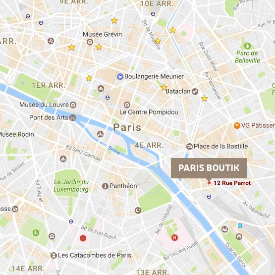 paris boutik access map, epicerie bastille gare de lyon map
